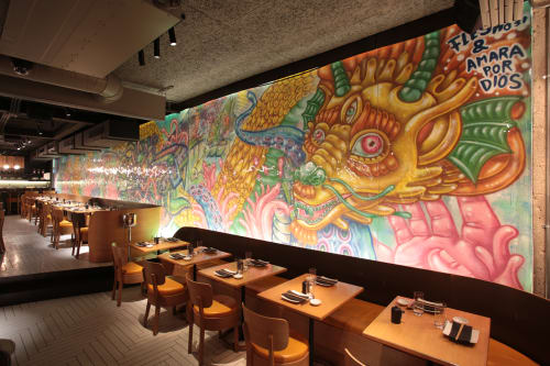 Murals by Amara Por Dios seen at Chotto Matte London, London - Chotto Matte