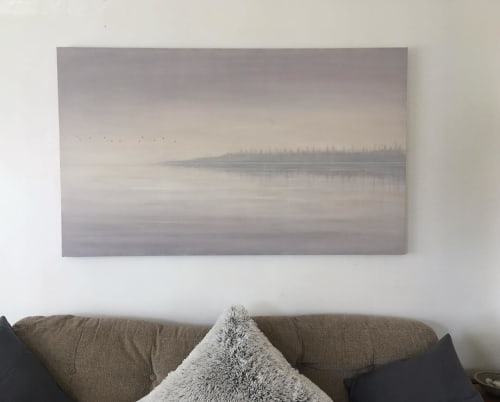 Paintings by Bella Bigsby seen at Private Residence, Oakland - Reflecting Lake