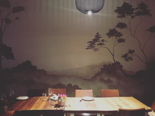 Wall Treatments by Caroline Lizarraga seen at A16, Oakland - Chef Chinoiserie