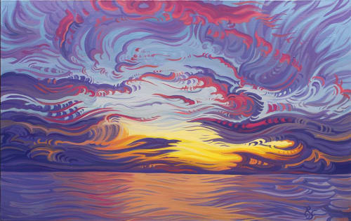 Paintings by Randi Ford seen at Private Residence, Grand Rapids - Into the Sun