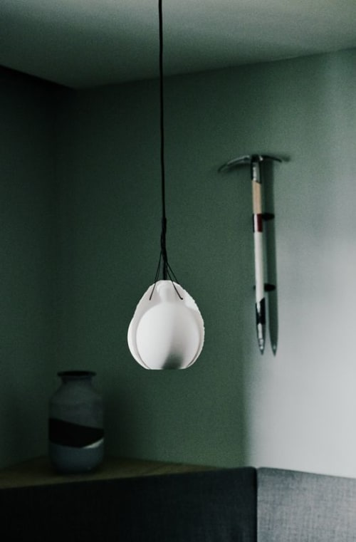 Pendants by Studio Jeroen Wand seen at The Cambrian Adelboden, Adelboden - Porcelain Lamps