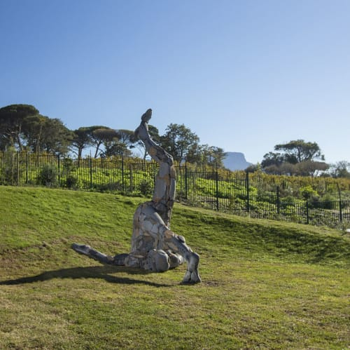 Sculptures by Angus Taylor seen at Norval Foundation, Cape Town - Holderstebolder