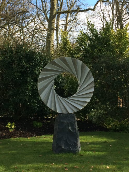 Public Sculptures by Nicolas Moreton seen at Private Residence, Dallington - Catherine wheel