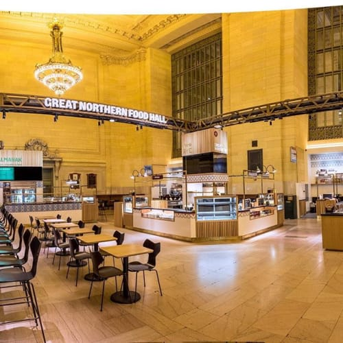 Signage by Outer Image seen at Grand Central Terminal, New York - Signage for Great Northern Food Hall
