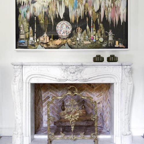 Paintings by Kelly O'Connor at Private Residence, Houston - The Rise and Fall
