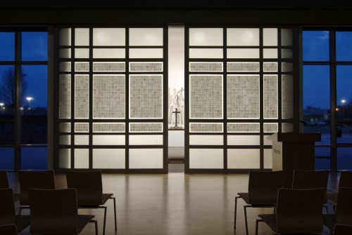 Wall Treatments by Chris Wight seen at The Minster School, Southwell - Chapel Doors