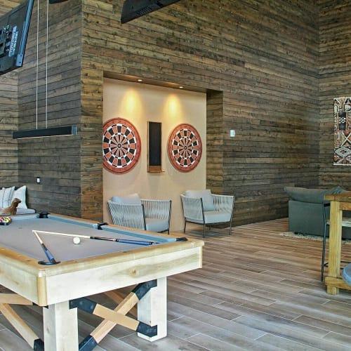 Art & Wall Decor by Organik Creative at Ascent Victory Park Apartments, Dallas - Dart Boards