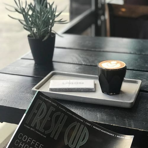 Cups by notNeutral seen at Union Roasters • Coffee • Waffles, Coeur d'Alene - VERO Cortado Glass, Smoke