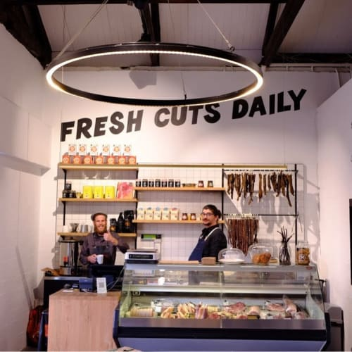 Murals by Cape Town Signwriting seen at Frankie Fenner Meat Merchants, Cape Town - Fresh Cuts Daily