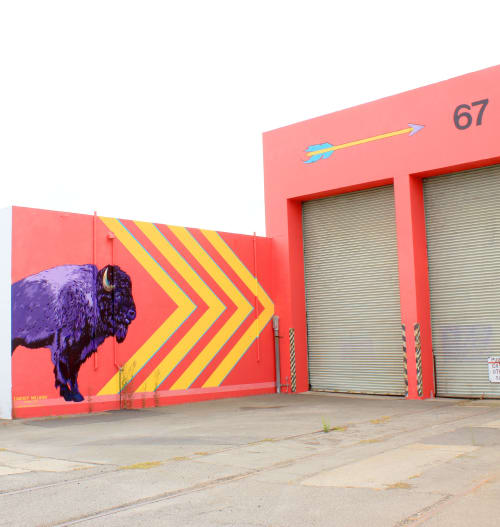 Street Murals by Lindsey Millikan (Milli) seen at 350 W Trident Ave, Alameda - Big Betty