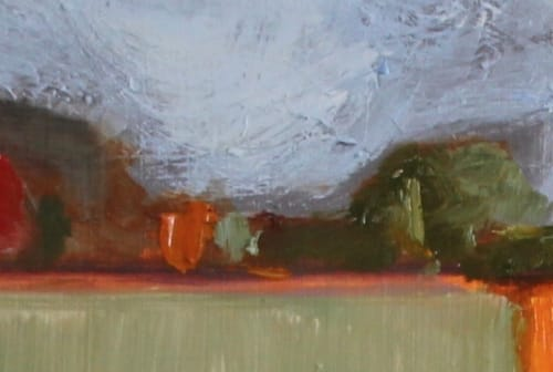 Paintings by Michelle Andres seen at ARTHOUSE, Sacramento - From the Bluff Series - Bluff I