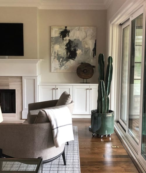 Paintings by Eileen Power Fine Art seen at Private Residence, Charlotte - Abstract painting