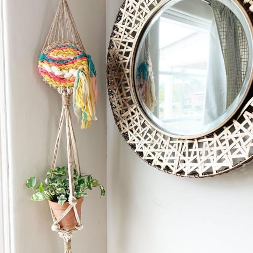 Macrame Wall Hanging by Create Express Transform seen at Private Residence, San Diego - Macrame Plant Hangers