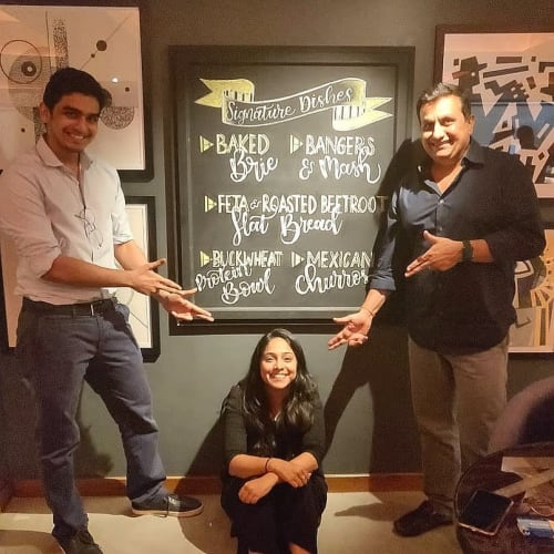 Signage by The Bombay Lettering Co. seen at Hammer & Song, Mumbai - Hammer & Song Chalk Boards Lettering