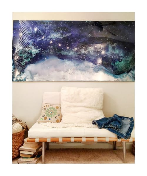 """Paintings by Jessica Dunegan seen at Private Residence, Charleston - """"And Then the Universe Laughed"""""""