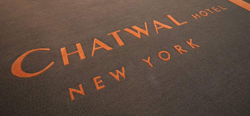 Rugs by Lucy Tupu Studio seen at The Chatwal, a Luxury Collection Hotel, New York City, New York - Custom Entry Rug