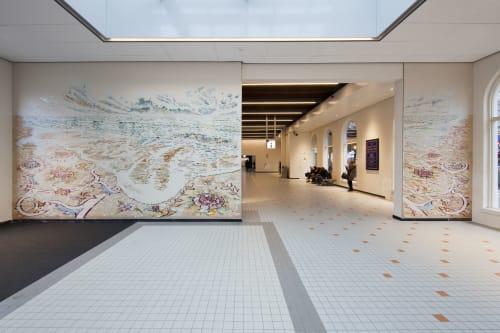 Public Mosaics by Studio Arjan van Helmond seen at Leeuwarden, Leeuwarden - Golfbrekers - (English translation: Breakwaters)
