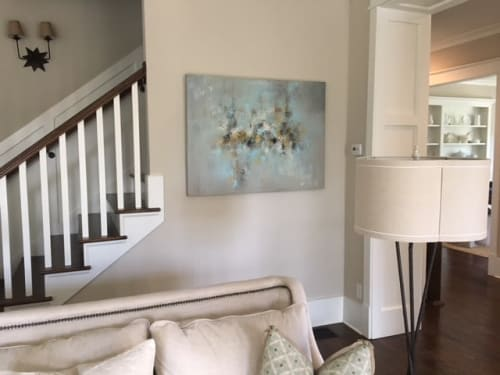 "Paintings by Christina Doelling, Abstract Artist seen at Private Residence, Roswell - ""Ocean Breeze"" 