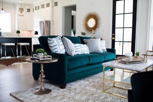 Couches & Sofas by Strickland Interiors seen at Private Residence, Sterlington - Monroe, Louisiana Living Room