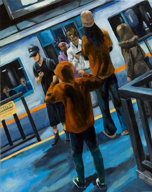 Paintings by Keith Doles seen at Private Residence, Dallas - E-train