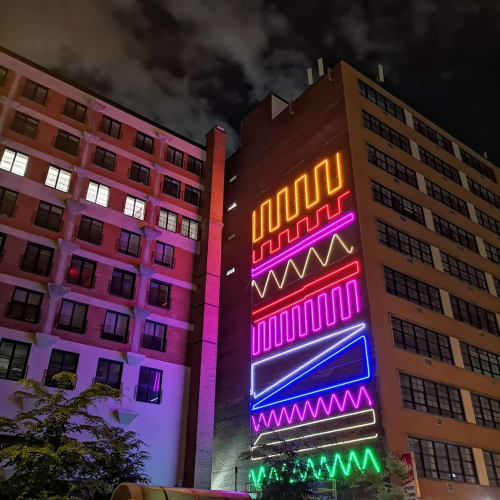 Interactive-Neon-Mural-#4   Art & Wall Decor by Spidertag