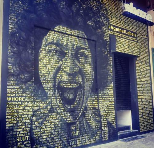 Murals by Arthat Studio seen at Shaze, Mumbai - Shaze` Colaba Wall Mural