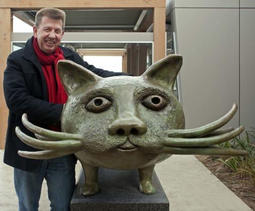 Sculptures by Dean Bowen seen at Wyndham Vale, Wyndham Vale - Cat