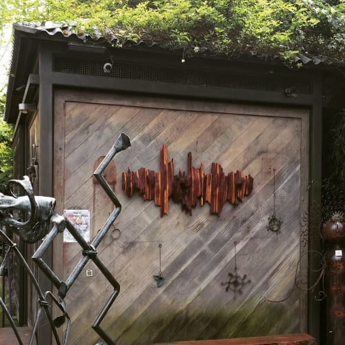 Wall Treatments by Lutz Hornischer seen at illumigarden, Mill Valley - Outdoor Wall Sculpture - The Big Wave