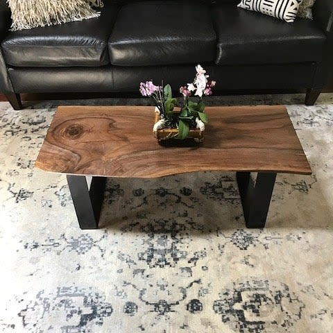 Tables by Elpis & Wood seen at Private Residence, Utica - Live Edge Coffee Table