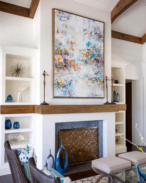 Paintings by Donaldson Fine Art seen at Private Residence, Ponte Vedra Beach - Abstract Painting