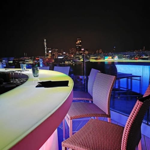 Chairs by Rausch International seen at The Park Lane Hong Kong, A Pullman - Spring Hill Bar Chair