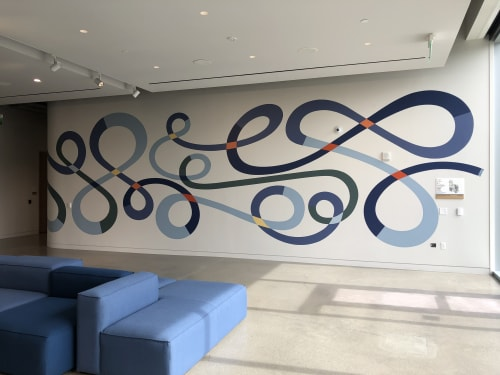 Murals by Mary Stengel Bentley seen at Fabian Court, Pleasanton - In Tandem