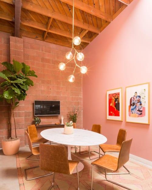 Wall Treatments by Portola Paints & Glazes seen at Hutch, Los Angeles - Custom Finishing