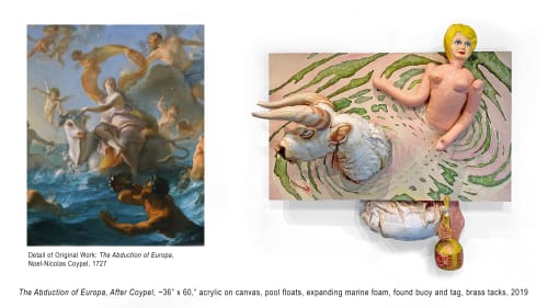 "Paintings by Noel Kassewitz seen at Private Residence, Washington - ""The Abduction of Europa, After Coypel"" [Floating Painting]"
