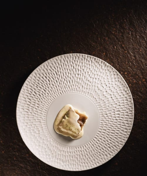 Ceramic Plates by Mieke Cuppen seen at La Boscana, Bellvís - Texture plate Chuva