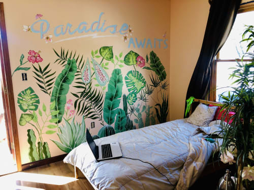 Murals by Anastasia (Vivantdesign) seen at Private Residence, Miami - Tropical paradise