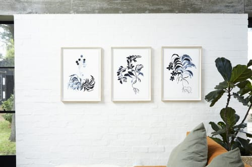 Paintings by Ruth Le Roux seen at Private Residence, Oakland - Fynbos I