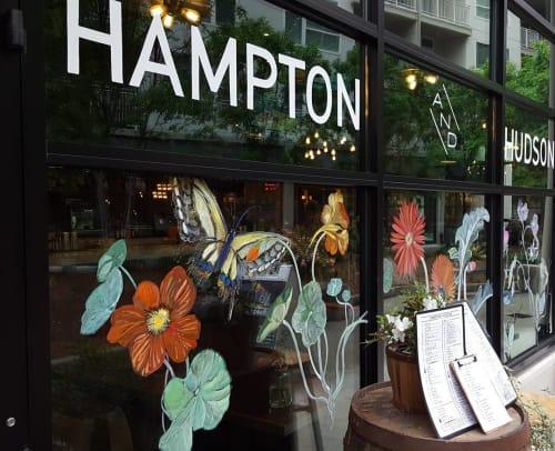 Paintings by Crysta Luke seen at Hampton + Hudson, Atlanta - Glass Painting