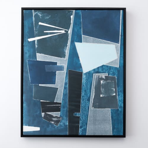 "Paintings by Rob Delamater seen at Schoolhouse, New York - ""Indigo Metropolis"""