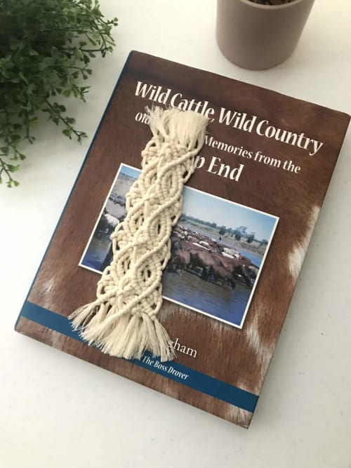 Apparel & Accessories by Tying The Knots By Dakota seen at Private Residence, Gold Coast - Macrame Bookmark