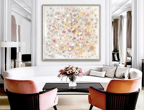 Paintings by Linnea Heide contemporary fine art seen at Asheville, Asheville - 'FROLiCK' original abstract painting by Linnea Heide