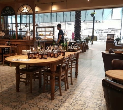 Tiles by Otto Tiles And Design seen at Le Pain Quotidien, Salmiya - Magical Floors