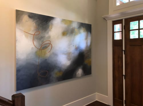 Paintings by Terri Dilling seen at Private Residence, Atlanta - Midnight Alchemy