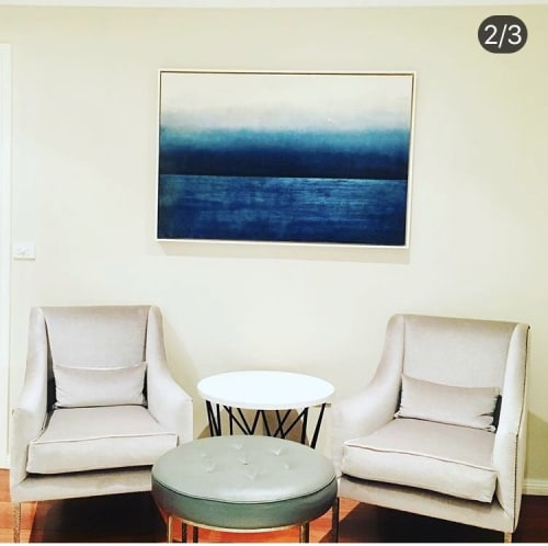 Paintings by Tricia Trinder Art seen at Private Residence, Seaforth - Commissioned Encaustic painting