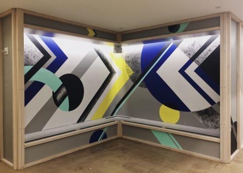 Murals by LAMKAT seen at Creative Circle, New York - Lobby Interior