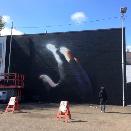 Street Murals by BiP seen at Edmonton, Canada, Edmonton - Color Mutiny