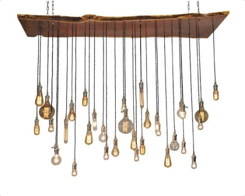 Chandeliers by Urban Chandy seen at Private Residence, Denver - Live Edge Chandelier