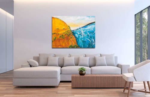 Paintings by Tania Chanter seen at Private Residence - Golden Horizon