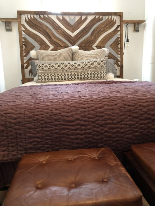 Beds & Accessories by Sage Woodworks seen at Private Residence, Philadelphia - Custom Topographic Headboard