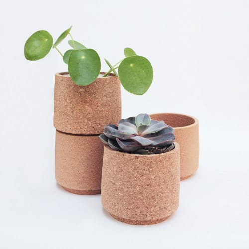 Vases & Vessels by mind the cork seen at Private Residence, London - atlas cork planter